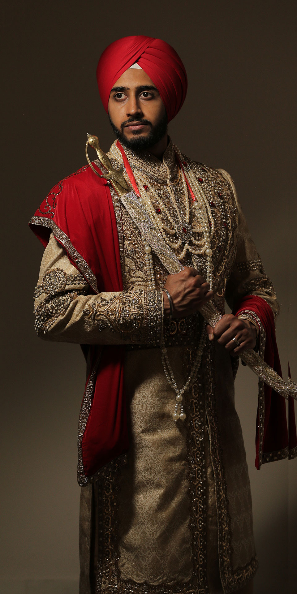 Panjabi Wedding Portrait Groom