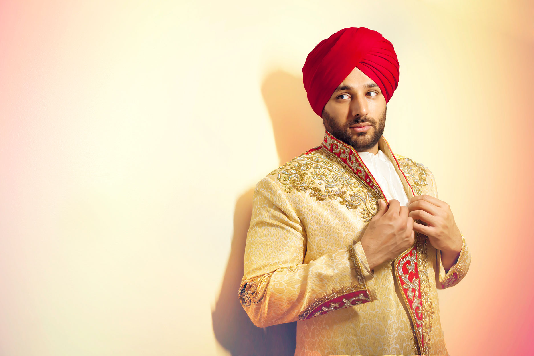 Sikh Groom Wedding Portrait