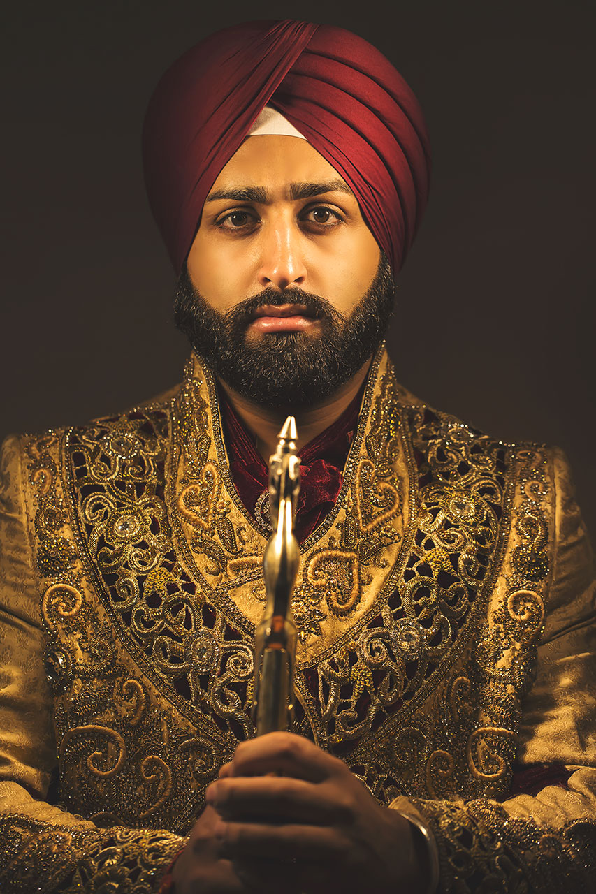 Groom Portrait Sikh Wedding London
